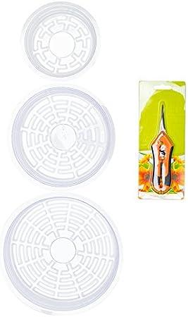 8/et 25,4/cm Effacer Soucoupe pour Pot de Fleurs d/égouttement Plateaux Plante Vert/ LSP /6 /Lot DE 16/pi/èces Multi/ /Tailles Assorties/ Products
