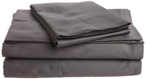 Tuscany Fine Linens (Tuscany Fine Italian Linens Milange 300 Thread Count Egyptian Cotton Sateen King Sheet Set, Dark Gray)