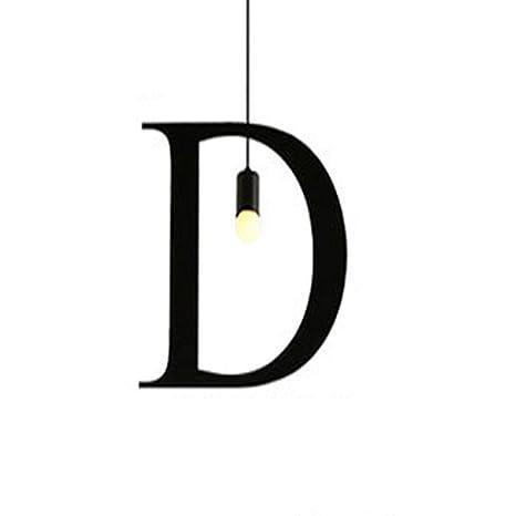 TXDZ Alfabeto inglés Lámpara Colgante Moderno Minimalismo ...