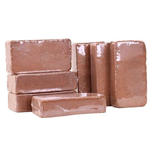 1x Kokosziegel, 650 gr. , ca. 8 Liter, Kokoserde, Quellerde, Kokossubstrat, Humusziegel 92124
