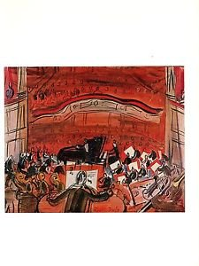 1970-vintage-raoul-dufy-red-concert-color-offset-lithograph