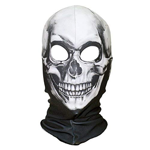 AXBXCX Polyester Fleece Costume Skin Masks Halloween Party Full Cover Hood Mask Neck Gaiter Warmer Blaclava Skull for Dust Music Festivals Raves Ski Motorcycle Snowboard Cycling -