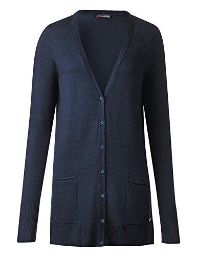 V Street 10109 One Blau Cardigan Femme Fine Long Night Gilet Blue qww6nrSt