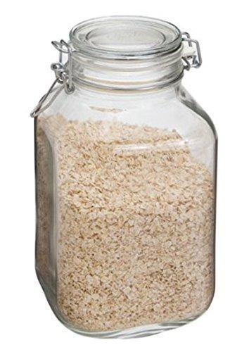 Case of 6 Bormioli Rocco Fido Glass Canning Jar Italian - 2 Liter ()