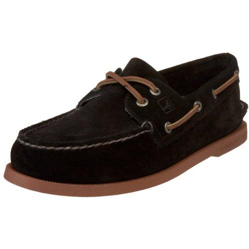 Sperry Authentic Original 2-Eye 0836981 - Zapatos de cuero para hombre Negro