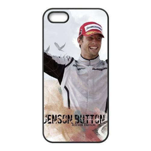 Jenson Button 2 coque iPhone 5 5S cellulaire cas coque de téléphone cas téléphone cellulaire noir couvercle EOKXLLNCD24763