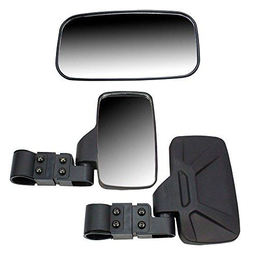 Black Breakaway Side & Rear View Mirrors Side x Side UTVs w/ 2