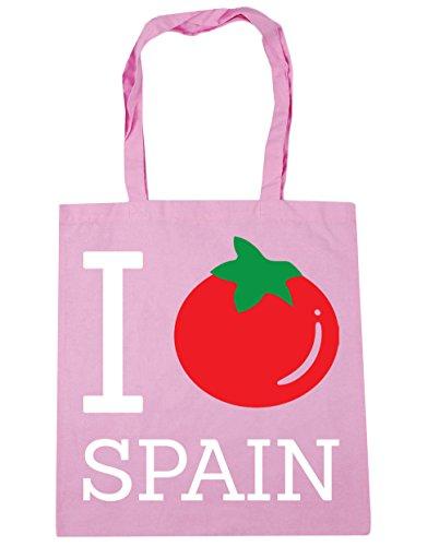 HippoWarehouse I tomate spanien Einkaufstasche Fitnessstudio Strandtasche 42cm x38cm, 10 liter - Klassisch Rosa, One size