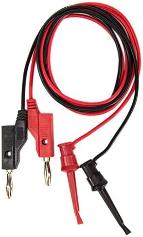 10 Black and 10 Red Leads 10 Pack of Banana to IC Hook Test Lead Sets