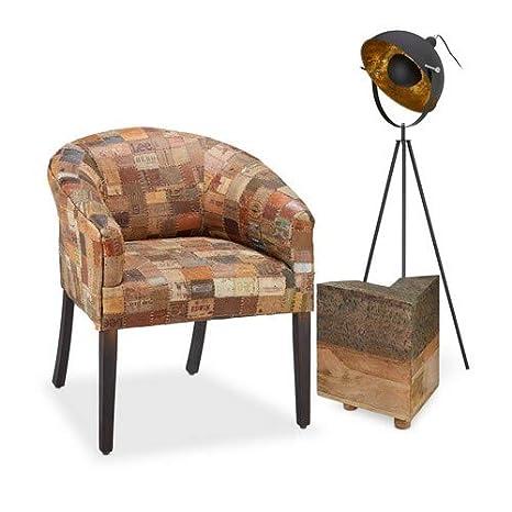 Nativo hogar Patchwork Club Silla, sillón Relajante con ...