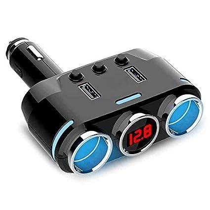 Adaptador de Cargador USB Dual para mechero de Coche 12-24 V ...