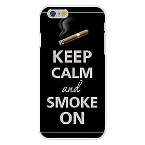 DaojieTM Generic Iphone 6 Plus 5.5 Inch Custom Case White Plastic Snap on - Keep Calm and Smoke on Cigar wangjiang maoyi by lolosakes