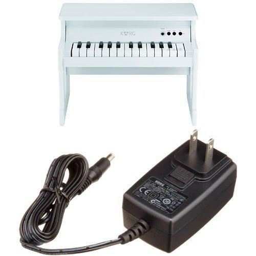 KORG tinyPIANO タイニーピアノ ミニ鍵盤25鍵 ホワイト ACアダプターセット  ホワイト B01K9CYBS0