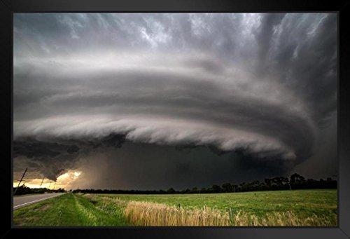 Burwell Nebraska Supercell Thunderstorms Photo Art Print Framed Poster 20x14 inch