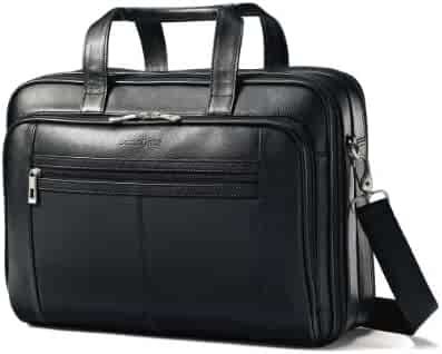 Samsonite Leather Checkpoint Friendly Case Black