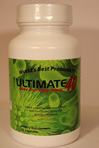Ultimate 40- Worlds Best PROBIOTIC, 40 Billion CFUs (3 Bottles) by Ultimate 40,  Worlds Best Probiotic, 40 Billion