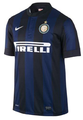 NIKE Fan-Trikot Inter Mailand Short Sleeve Home Jersey 2013/2014 – Camiseta de fútbol Americano, Color