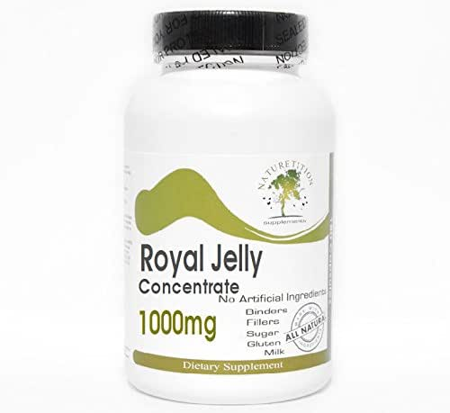 Royal Jelly Concentrate 1000mg ~ 100 Capsules - No Additives ~ Naturetition Supplements