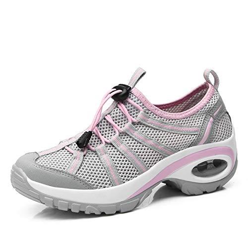 Nuevos Transpirable Casual Shoes Air Caminar Zapatos Net Hasag Ropa Mujer Mujeres Malla Aire para Zapatos Libre al Cushion de para p4fPwdIq