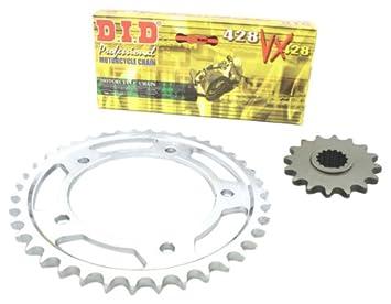 D.I.D YA.006.01-930.02.8 - Kit de cadena VX con retenes X-Ring para Yamaha DT 125 R/RE (modelos 1991-2006): Amazon.es: Coche y moto
