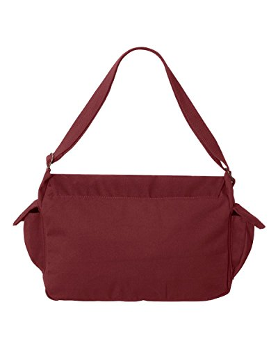 Tenacitee Born in 1935 - Aged Like a Fine Wine Maroon Brushed Canvas Messenger Bag by Tenacitee (Image #2)