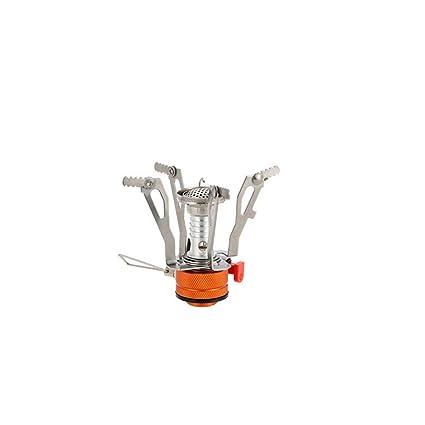 xuew Mini Four Head Portable Réchaud extérieur Portable intégré Poêle Ultra léger en Alliage Poêle au gaz Sauvage avec Orange Connecteur
