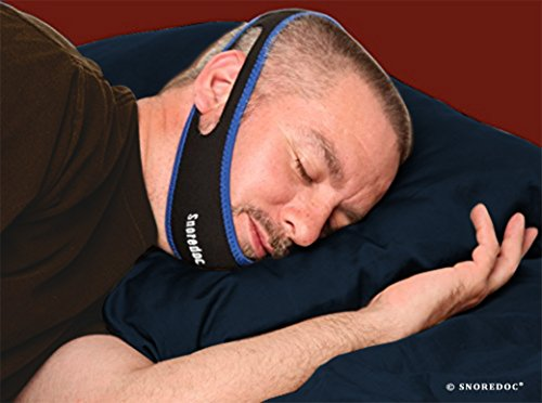 L'apnée du sommeil Chin Strap - CPAP Chin Strap - ronflement Chin Strap - Le SnoreDoc® Anti Snore apnée du sommeil Chin Strap - Le New Snore Solutions Device - Snore Stopper secours Garde - Sleep Aid Jaw Strap Réduit ronflement - Permet de sommeil une nui