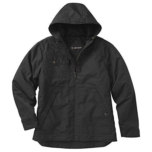 Dri Duck Element (Dri-Duck Men's 5065 Yukon Hooded Water Resistant Work Jacket, Black, Large)