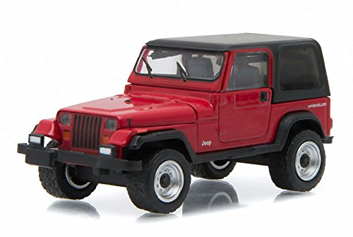 New 1:64 MOTOR WORLD SERIES 16 - RED 1992 JEEP WRANGLER HARD TOP (YJ) Diecast Model Car By Greenlight by Greenlight