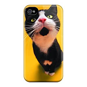Iphone High Quality Case/ Surprise Cat TIS2675IaHU Case Cover For Iphone 4/4s