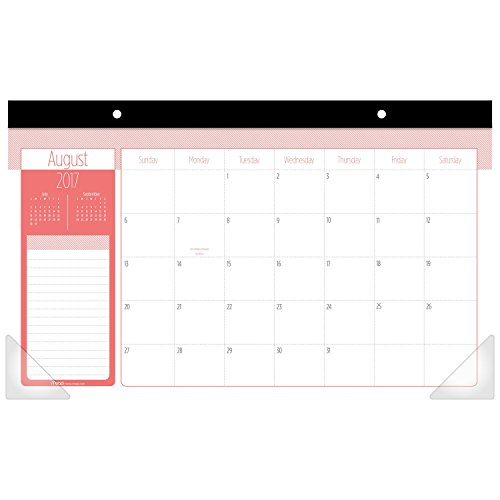 Mead Academic Desk Pad Calendar, August 2017 - July 2018, 17-3/4