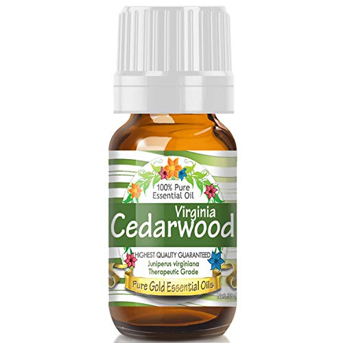 Virginiana Essential Oil - Virginia Cedarwood Essential Oil (100% Pure, Natural, UNDILUTED) 10ml - Best Therapeutic Grade - Perfect for Your Aromatherapy Diffuser, Relaxation, More!