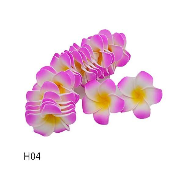 entertainment-moment 20Pcs Plumeria Hawaiian Foam Frangipani Flower Artificial Silk Fake Egg Flower for Wedding Party Decoration,H04,7Cm