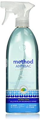 Method Antibacterial Bathroom Cleaner, Spearmint, 28 Ounce