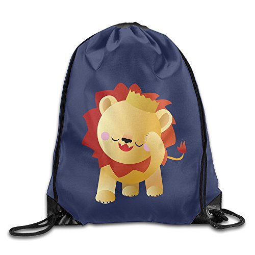 LOVVER94 Cute Pet Lion Adult Gym Drawstring Backpack Bags For Home Travel Storage Use Gym Traveling Shopping Sport Yoga Running (Costume Stores Cleveland)