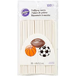 Wilton 6-Inch Lollipop Sticks, 100-Count