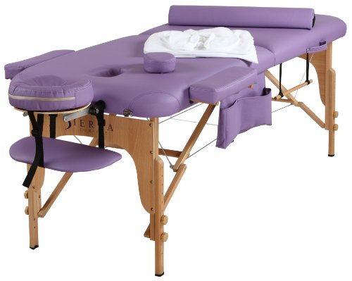 SierraComfort All Inclusive Portable Massage Table, Purple