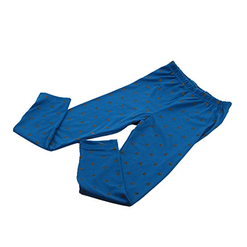 Weixinbuy Kids Girls Polka Dot Soft Cotton Tights Leggings Blue 2-3T