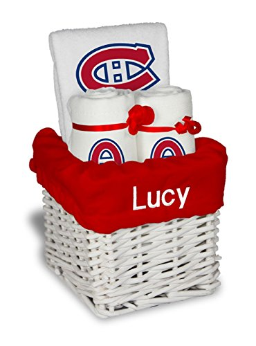 Designs by Chad and Jake Baby Personalized Montreal Canadiens Small Gift Basket One Size White