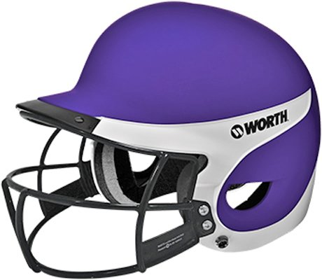 Wlbha-Sbwg2-Pu Worth Liberty Away Matte Helmet With Mask Purple/White