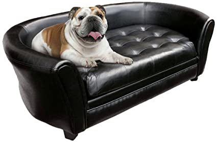 Amazon.com : Wiggle & Pounce Tufted Dog Couch/Sofa/Bed, Large, Black ...