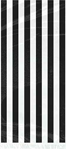 Black Striped Cellophane Bags 20ct