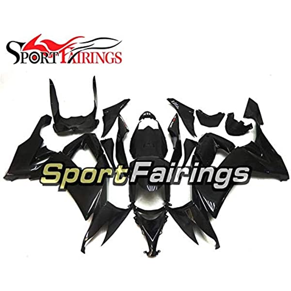 Fairing Kits Fit for Kawasaki ZX-10R ZX10R Ninja 2008 2009 2010 ZX10R 08 09 10 Plastic ABS Injection Mold Complete Motorcycle Body Aftermarket Bodywork Frame Black A033 VITCIK
