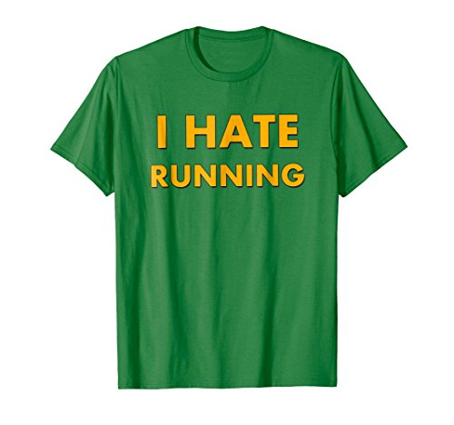 Training Marathon Runner (Mens I Hate Running Runner Shirt Gift - Funny Runner Training Tee XL Kelly Green)