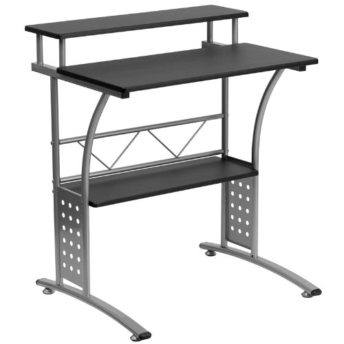 Clifton Black Computer Desk Deal (Large Image)