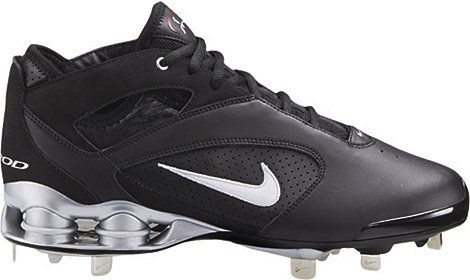 official photos 30682 8273e Amazon.com   NIKE AROD SHOX Mens Metal Baseball Cleats (14, Black Black)    Baseball   Softball