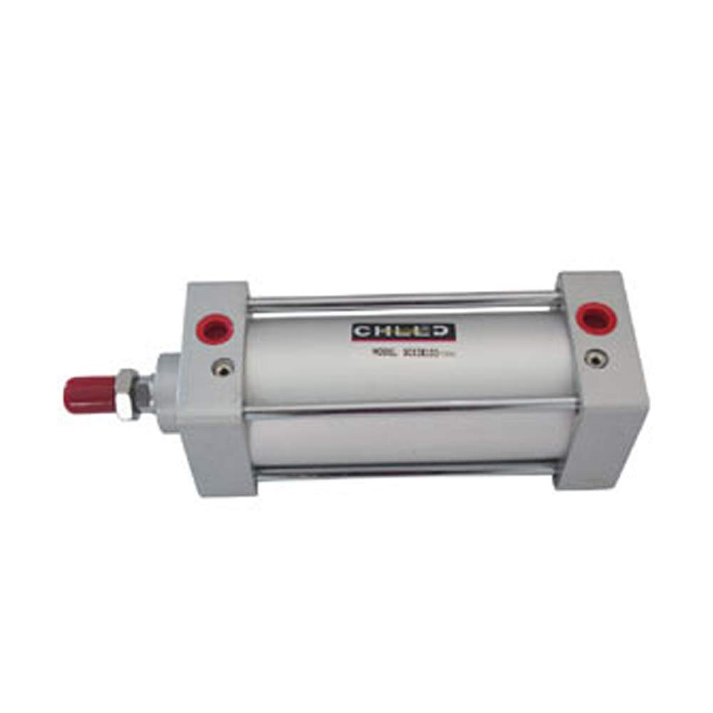 Woljay Pneumatic Air Cylinder SC 63 x 125 PT 3/8 Screwed Piston Rod Dual Action Bore: 63mm Stroke: 125mm