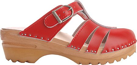 Troentorp Bastad Clogs Women's Mary Jane Slip-on Shoes,Red,EU 41 M