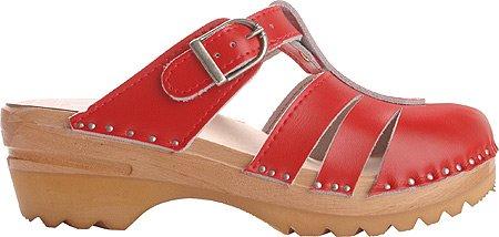 Troentorp Bastad Clogs Womens Mary Jane Slip-on Shoes Red 7A8Ti7rzUt