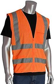 Worktex Safety Standard Class 2 Mesh Safety Vest, Orange, Size L, 5 per Pack